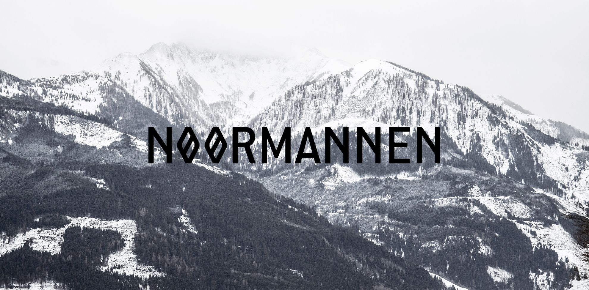 Noormannen logo on mountain background