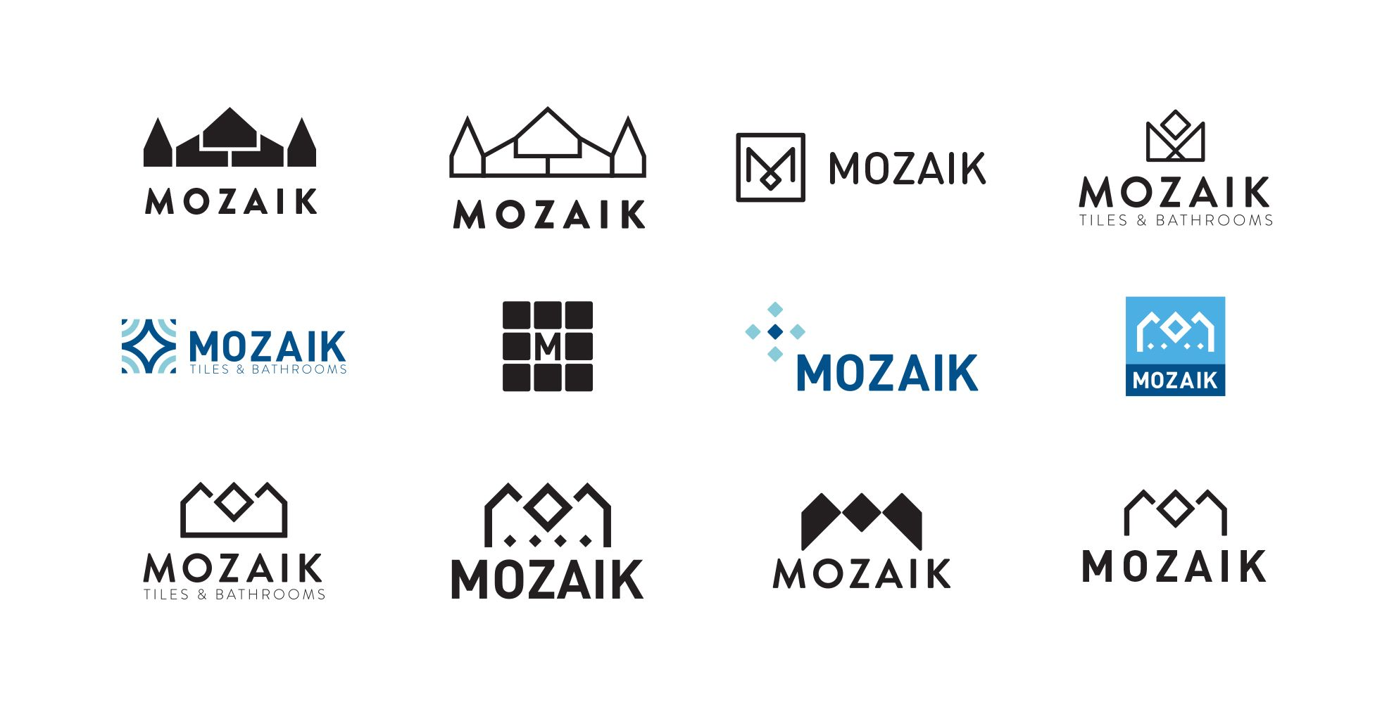 Mozaik logo first concepts