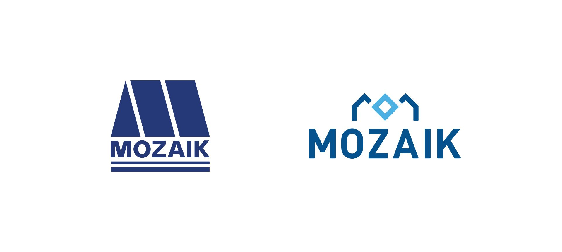 Mozaik logo old vs new comparison